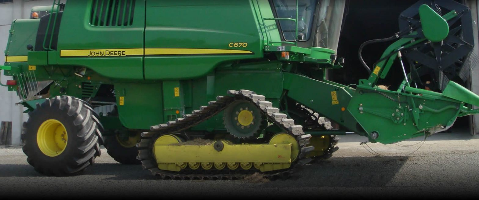 steel track for combine